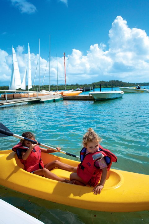 Water based activities at Ile aux Cerfs